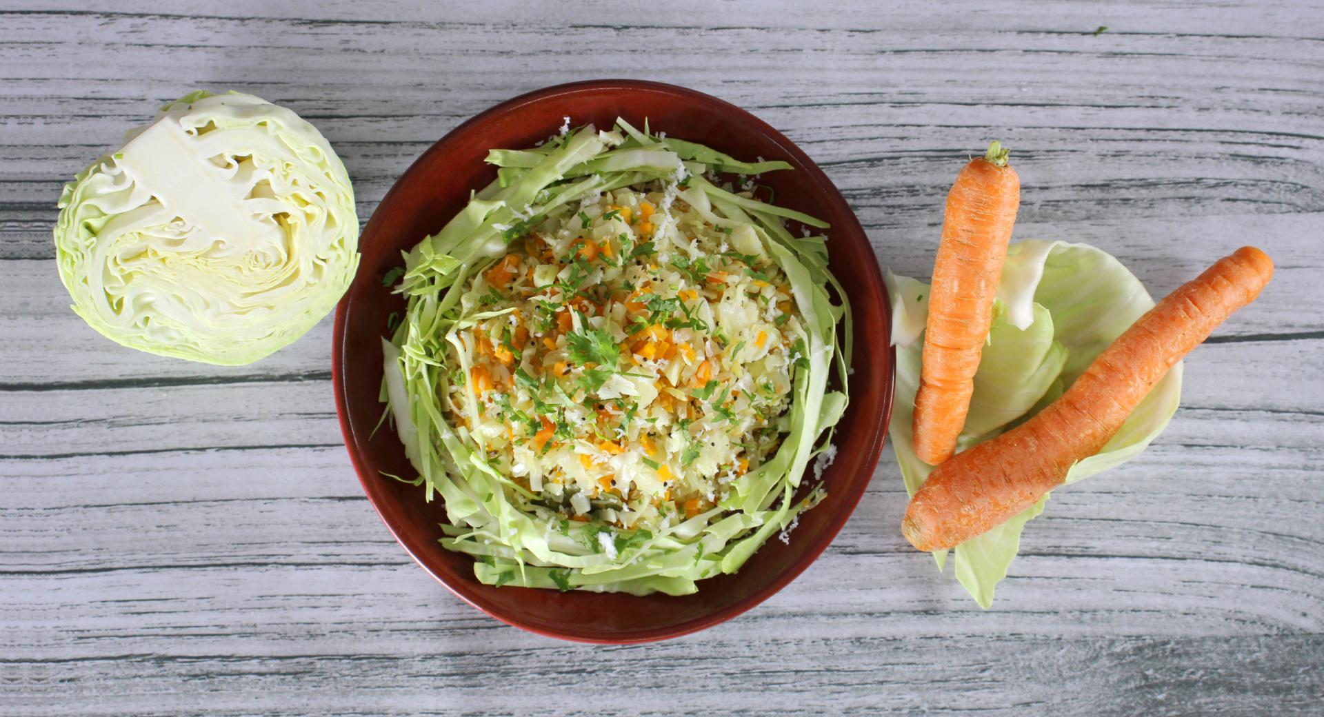 Cabbage Carrot Thoran