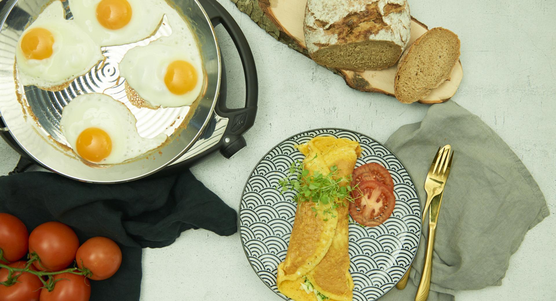 Omelet & Fried eggs