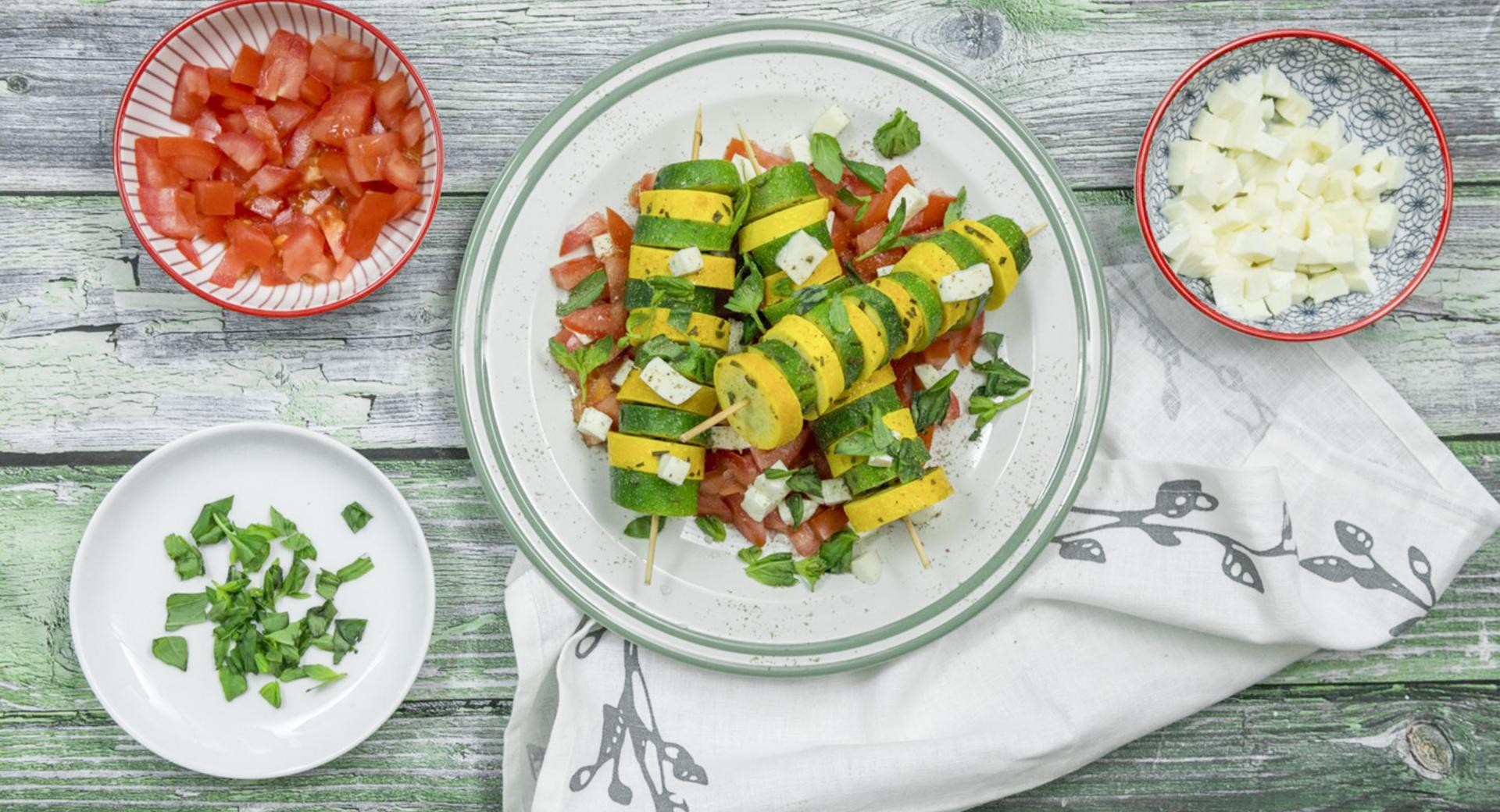 Colourful zucchini Skewers