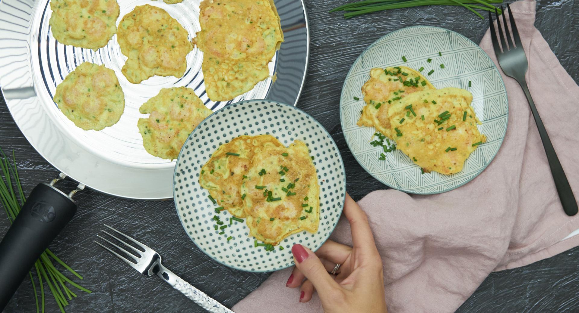 Prawns omeletts