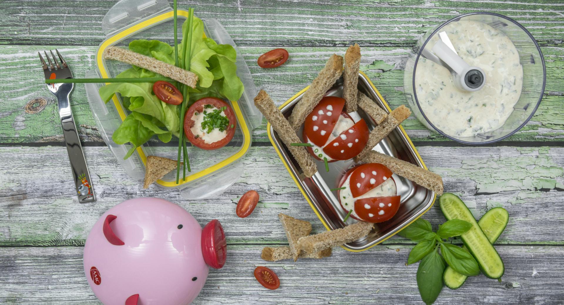 Kids tomato-ladybug