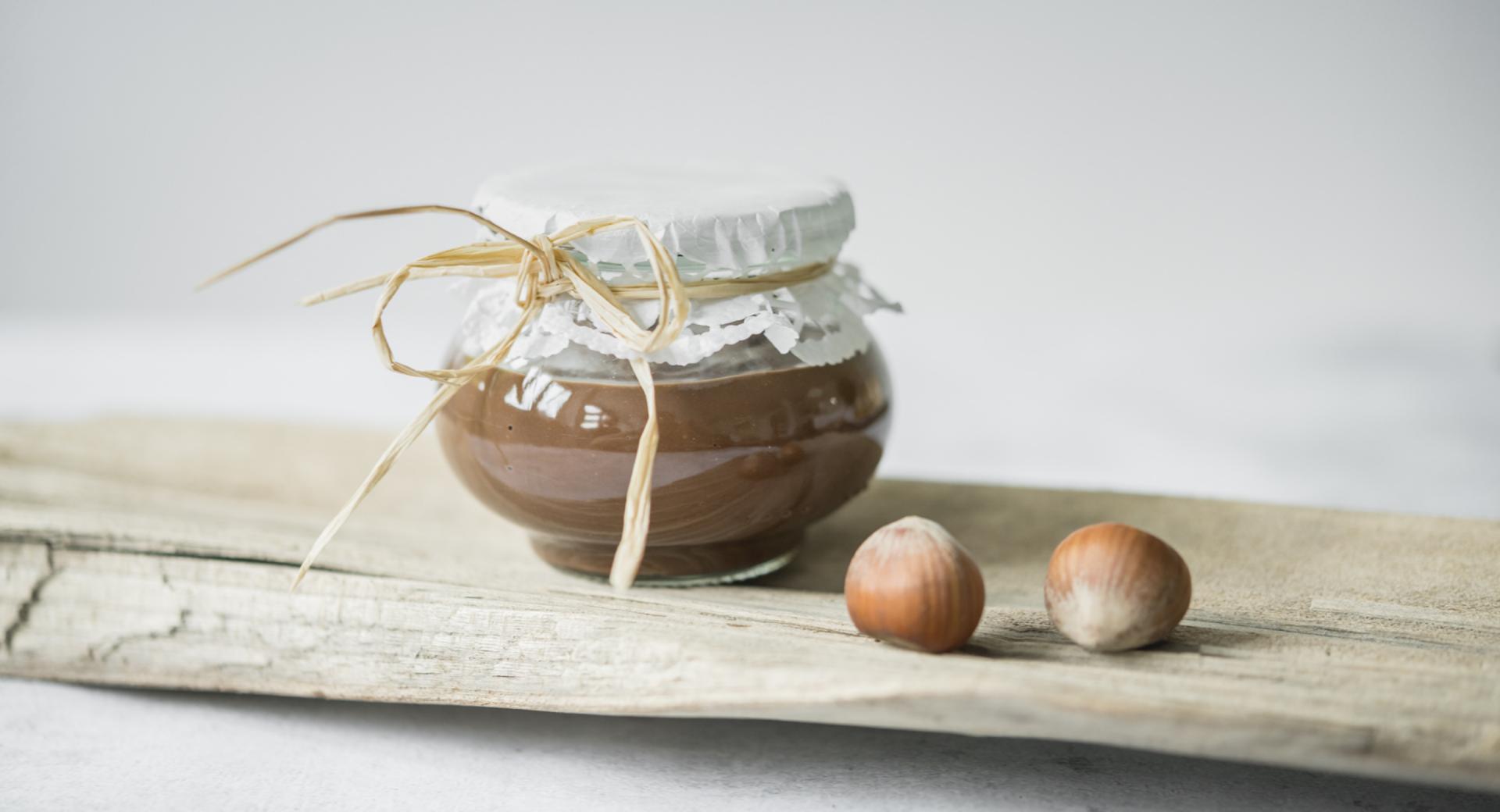 Homemade hazelnut chocolate cream