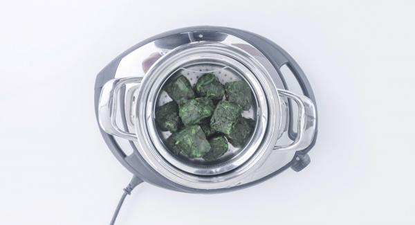 Place frozen spinach in the Softiera insert.