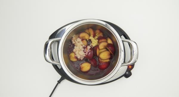 Season with salt and vinegar, puree and keep warm.