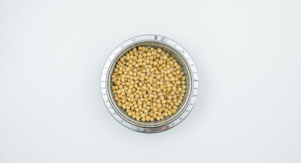 Soak chickpeas in cold water overnight.