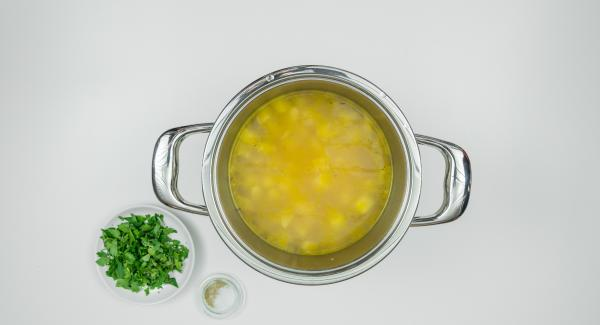 Remove Secuquick, add herbs and season to taste.