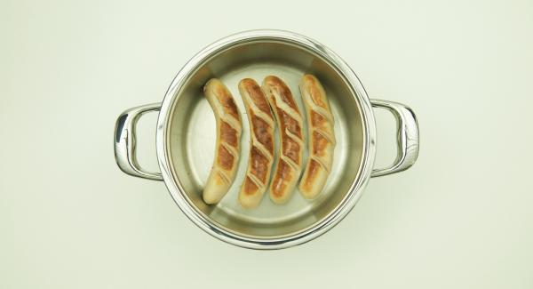 Switch off Navigenio and let the sausage rest for 2 minutes, depending on the thickness.