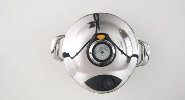 At the end of cooking time of the Secuquick, place pot in the inverted lid and let it depressurize by itself. Open Secuquick and add the rice to the HotPan, mix and Season with Lemon Juice and extra virgin olive oil as desired. Serve warm or cold.