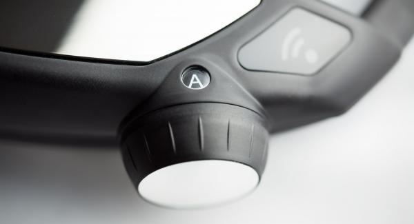 """Switch Navigenio to  """"A"""". Enter 10 minutes cooking time in the Audiotherm and cook in the turbo area."""