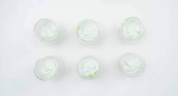 Put apple pieces in a bowl or serving glasses, layer yoghurt mixture on top.