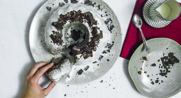 Chocolate cake with redwine