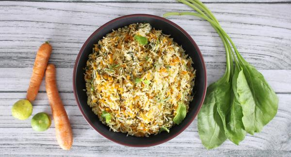 Carrot and Spinach Rice