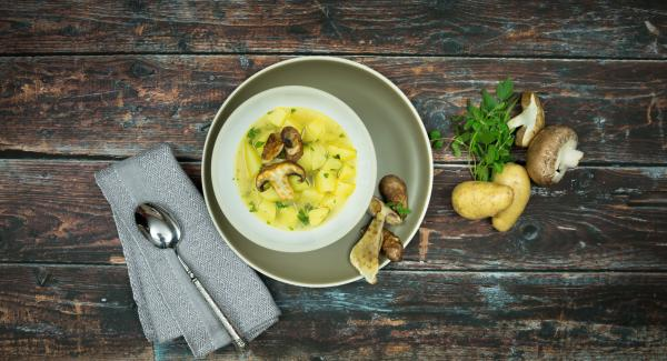 Potato stew with mushrooms
