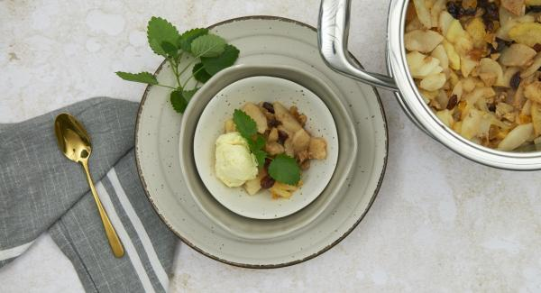 Apple and pear compote