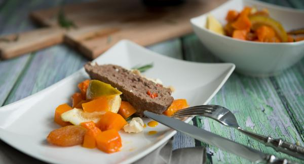 Meatloaf with pumpkin chutney