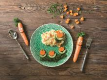 Risotto with carrots