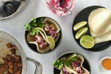 Carnitas with pickled onions